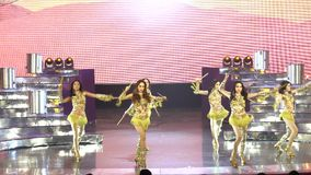 Final Round of Miss Tiffany`s Universe 2017 at Tiffany Theatre. Pattaya, Thailand - August 25, 2017 ; Final Round of Miss Tiffany`s Universe 2017 at Tiffany stock video footage