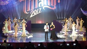 Final Round of Miss Tiffany`s Universe 2017 at Tiffany Theatre. Pattaya, Thailand - August 25, 2017 ; Final Round of Miss Tiffany`s Universe 2017 at Tiffany stock video
