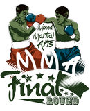 Final round. Two boxers fighting illustration Royalty Free Stock Photos