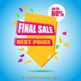 Final Sale Arrow Banner Design. Sale background Royalty Free Stock Photography