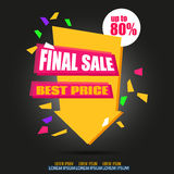 Final Sale Arrow Banner Design.  Stock Photo