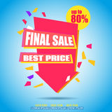 Final Sale Arrow Banner Design.. Vector Sale Illustration for Promotional brochure,booklet,poster, shopping flyer, discount banner.Eps 10 Royalty Free Stock Images