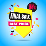 Final Sale Arrow Banner Design.  Royalty Free Stock Photos