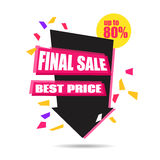 Final Sale Arrow Banner Design.  Vector Sale Illustration. For Promotional brochure,booklet,poster, shopping flyer, discount banner.Eps 10 Stock Photos