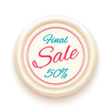 Final sale badge isolated on white background Stock Image