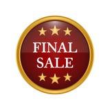 Final sale badge on white background. Vector illustration Stock Image