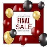 Final Sale Balloon Background Vector Illustration. EPS10 Royalty Free Stock Photos