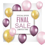 Final Sale Balloon Background Vector Illustration. EPS10 Stock Images