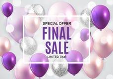 Final Sale Balloon Background Vector Illustration. EPS10 Stock Photos