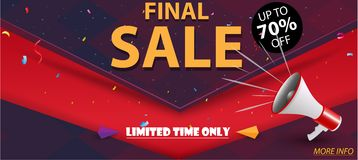 Final Sale Banner and Best Offer Royalty Free Stock Photography