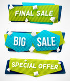 Final Sale Banner. Big Sale Banner. Special Offer Banner. Abstract Banner Templates Stock Photos