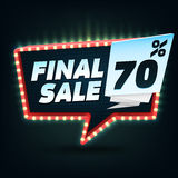 Final Sale Banner. Final Sale Discount. Vector illustration Royalty Free Stock Photo