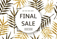 Final Sale banner, poster on the seamless pattern from the creat Stock Photos