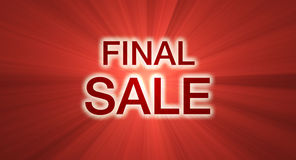 Final Sale banner red light halo Stock Photos