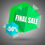 Final sale banner. For shop Royalty Free Stock Photos