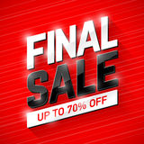 Final Sale banner. Special offer, big sale, clearance Royalty Free Stock Image