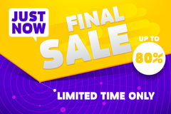 Final Sale Banner Royalty Free Stock Photo