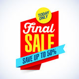 Final Sale banner. Template illustration Royalty Free Stock Images