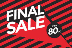 Final sale banner. Vector illustration Stock Photo