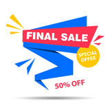 Final Sale Banner. Vector illustration of a Final Sale Banner on a colorful background Royalty Free Stock Image