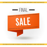 Final sale banner Vector illustration Royalty Free Stock Image