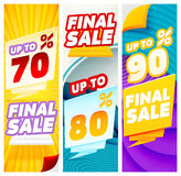 Final sale banners. Banner Templates Royalty Free Stock Photos