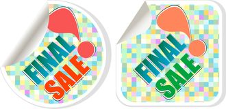 Final sale - best discount sale stickers set. Final sale - best vector discount sale stickers set Stock Photography