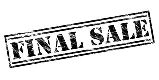 Final sale black stamp. Isolated on white background Royalty Free Stock Images