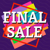 Final sale colorful banner on purple background. Vector background with colorful design elements. Vector illustration Stock Photo