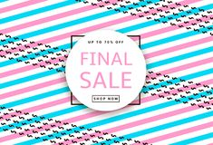 Final Sale. Creative template for poster, banner, business card. And other designs. Geometric background. Vector illustration Stock Photo