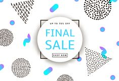Final Sale. Creative template for poster, banner, business card. And other designs. Geometric background. Vector illustration Royalty Free Stock Photo