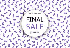Final Sale. Creative template for poster, banner, business card. And other designs. Geometric background. Vector illustration Royalty Free Stock Images