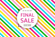 Final Sale. Creative template for poster, banner, business card. And other designs. Vector illustration Stock Images