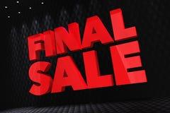 Final Sale 3D Lettering stock illustration