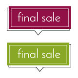 Final sale dark pink and green banner on white background.  Vector background with colorful design elements. Vector illustration Royalty Free Stock Photo