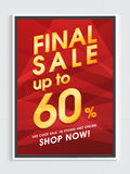 Final Sale Flyer, Poster or Banner design. Royalty Free Stock Images