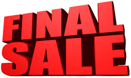 Final sale. This is a Final sale image Stock Images