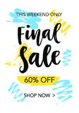 Final Sale mobile banner template Stock Image