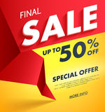Final Sale offer poster banner vector illustration. Royalty Free Stock Images