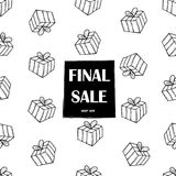 Final Sale poster. Background with gift boxes. Vector illustration Royalty Free Stock Image