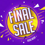 Final Sale Poster, Banner or Flyer design. Final Sale Poster, Banner or Flyer design, Creative typographical background, Can be used as sticker, tag or label Royalty Free Stock Image