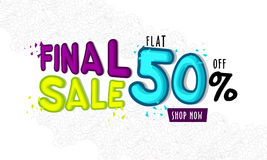 Final Sale Poster, Banner or Flyer Design. Final Sale Poster, Sale Banner, Sale Flyer, Flat 50% Off, Sale Typographical Background with floral pattern, Creative Stock Photography