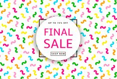 Final Sale poster. Colorful background. Vector illustration Royalty Free Stock Photo
