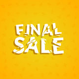 Final Sale poster design template. Promotion marketing design banner illustration Stock Photo