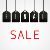 Final sale poster Vector illustration Royalty Free Stock Photo