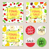 Final sale posters, banners, label - colorful  set with fr Stock Photography