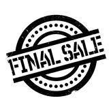 Final Sale rubber stamp. Grunge design with dust scratches. Effects can be easily removed for a clean, crisp look. Color is easily changed Royalty Free Stock Image
