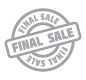 Final Sale rubber stamp. Grunge design with dust scratches. Effects can be easily removed for a clean, crisp look. Color is easily changed Stock Images