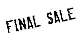 Final Sale rubber stamp. Grunge design with dust scratches. Effects can be easily removed for a clean, crisp look. Color is easily changed Stock Photos