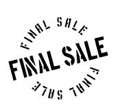 Final Sale rubber stamp. Grunge design with dust scratches. Effects can be easily removed for a clean, crisp look. Color is easily changed Royalty Free Stock Photography